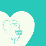 Abstract background with blood bag. Icon donation with heart. Vector image help the sick and needy. dropper with drop. Poster Royalty Free Illustration