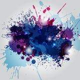 Abstract background with blots. Abstract background with blue and pink blots, splashes Royalty Free Stock Photography