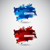 Abstract Background with Blots and splatters. Abstract sackground with slue and red slots and splashes Royalty Free Stock Image