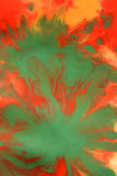 Abstract background with blots and spreads droplets of different colors. On paper close-up, filter stock image