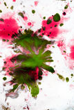 Abstract background with blots and spreads droplets of different colors. On paper close-up, filter royalty free stock photo