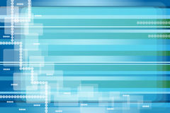 Abstract background blue. Abstract background with shades of blue and green stripes, transparent squares and circles. Copy space for text stock illustration