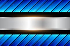 Abstract  background blue. Pattern, shiny metallic blue vector illustration Royalty Free Stock Photo