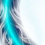 Abstract background blue. Arc with white waves royalty free illustration