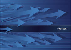 Abstract background with blue arrows. And text field Royalty Free Stock Images