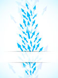 Abstract background with blue arrows. Bright illustration Stock Photography
