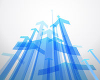 Abstract background with  blue arrows. Royalty Free Stock Image