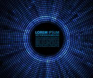 Abstract background. Blue abstract banner halftone circle vector illustration