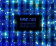 Abstract background. Blue abstract banner halftone square vector illustration
