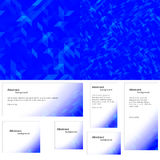 Abstract background blue banner Royalty Free Stock Photo