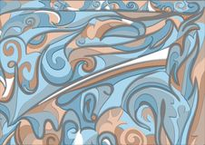 Abstract background in blue and beige Royalty Free Stock Image