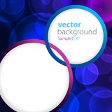Abstract background blue bokeh circles. With text space stock illustration