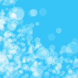 Abstract background blue bokeh circles Stock Image