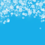 Abstract background blue bokeh circles Stock Photos
