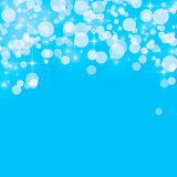 Abstract background blue bokeh circles. Abstract background with blue bokeh circles stock illustration