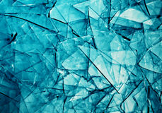 Abstract background blue broken glass Stock Photo