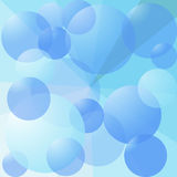 Abstract background with blue bubbles Royalty Free Stock Photo