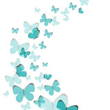 Abstract Background with Blue Butterflies. Illustration of an Abstract Background with Blue Butterflies stock illustration