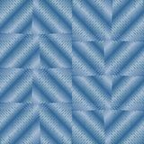 Abstract background with blue checker patterns in metallic design, 3d optical art illusion Royalty Free Stock Photos