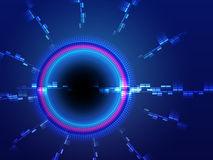 Abstract background with blue circle vector illustration Royalty Free Stock Image