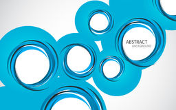 Abstract background with blue circles. Clip-art Stock Image