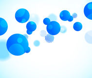 Abstract background with blue circles Royalty Free Stock Image