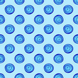 Abstract background blue circles seamless pattern Stock Image