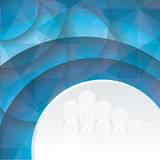 Abstract background with blue circles Royalty Free Stock Photo