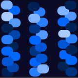 Abstract background blue color light blue and dark circles are laid out in rows Stock Photos
