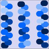 Abstract background blue color light blue and dark circles are laid out in rows Royalty Free Stock Images