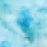 Abstract background. With blue colors and triangle elements Stock Image