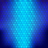 Abstract background blue continuous triangle geometry element ve Stock Photography
