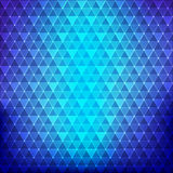 Abstract background blue continuous triangle geometry element ve Stock Photo