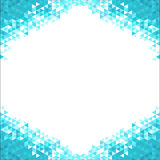 Abstract background with blue crystals Royalty Free Stock Photos