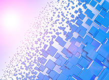 Abstract background. Of blue cubes Stock Images