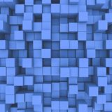 Abstract background. Blue cubes. 3D illustration royalty free illustration