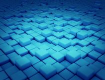 Abstract background blue cubes 3d. Abstract 3d background of blue cubes or blacks with dark background vector illustration