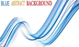 Abstract background blue curve and wave element  Stock Photo