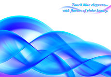 Abstract background blue curved Royalty Free Stock Photos