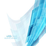 Abstract background with blue curved stripes Royalty Free Stock Photo