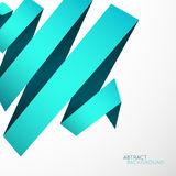 Abstract background. Blue cyan curved line ribbon Royalty Free Stock Photos