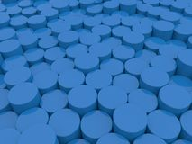 Abstract background of blue cylinders . 3d rendering illustration royalty free illustration