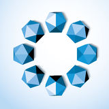 Abstract background of blue diamonds on a white Stock Photography