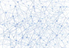 Abstract background with blue dots and net. On white Royalty Free Stock Photography