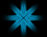 Abstract background. Blue abstract flower on a black background Vector Illustration