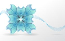 Abstract background. blue flower. Vector Royalty Free Stock Image