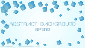 Abstract background. Abstract blue geometric transparent background Royalty Free Stock Photography
