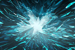 Abstract background from blue glass crystals Royalty Free Stock Photo