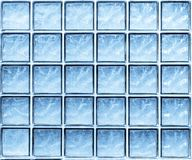 Abstract background of blue glass wall cubes. Stock Images
