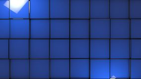Abstract background with blue glossy cubes, 3d render. Illustration stock illustration